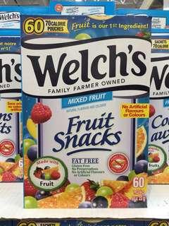 🇨🇦加拿大代購🇨🇦Welch's fruit snacks 威路氏 無添加 天然 多種維生素雜果味軟糖 60包 獨立包裝