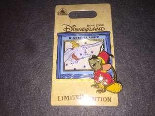 香港迪士尼 徽章 Disney Pin Classic Series Dumbo Timothy LE500