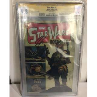 CGC SS 9.8 Star Wars #1 Boba Fett Tales of Suspense #39 cover homage Variant Signed by Jason Aaron