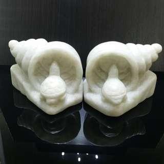 6.5 cm x 6.5 cm White Jade Longevity Tortoise - 6.5 公分 x 6.5 公分汉白玉长寿龟