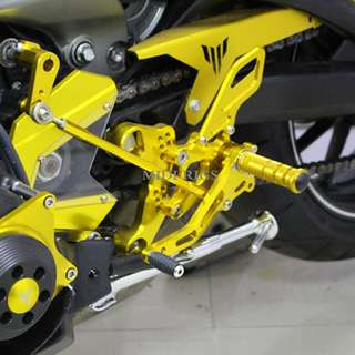 Yamaha MT09 FZ09 modified race racer foot pedals pegs
