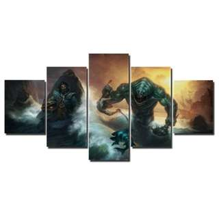 Dota 2 Kunka Vs Tidehunter Canvas Print