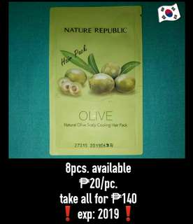 Olive Scalp Cooling Hair Pack