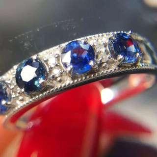 18k 藍寶石 戒指