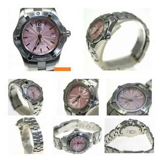 Tag heuer aquaracer pink shell automatic ladies Item no s03614 Size 29m x 16cm Price 39,990 ""