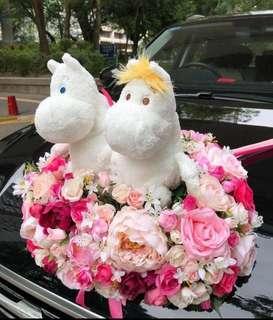 婚禮車花(不連公仔)