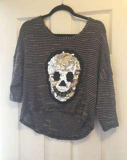 Skull sequin shirt