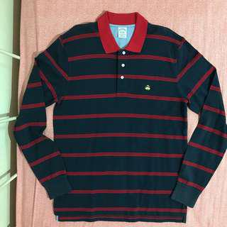 Brooks Brothers long sleeve striped polo