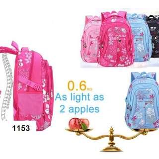 Large Colorful Floral Girl Student Backpack (Sekolah Rendah) 1153