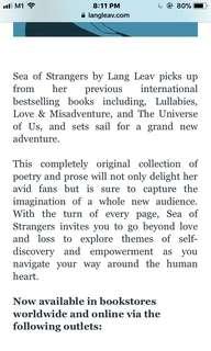 sea of strangers lang leav pdf