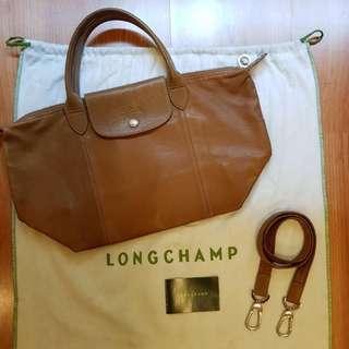 Longchamp Le Pliage Cuir (Small)