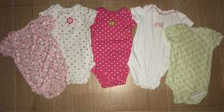 5 pc bodysuits from carters