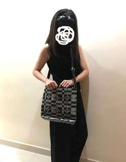 古著包包 Elle Paris 灰色側揹手袋 side handbag
