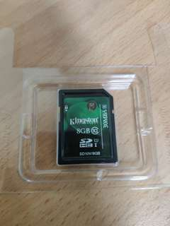 SD Card 8GB Kingston memory card