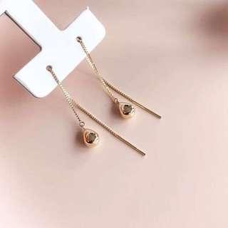 18k 水滴耳環