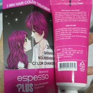 Espesso plus hair colour treatment