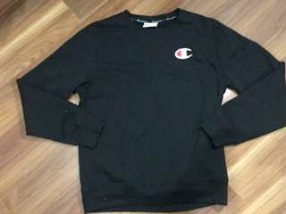 🔥 Authentic Black Champion Crew Neck Sweater