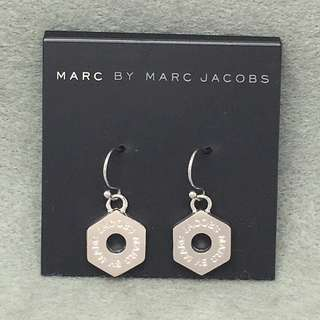 Marc By Marc Jacobs sample Earrings 六角形銀色吊墜耳環