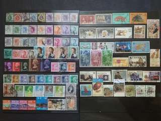Mix Collection & Best Selection Of 1912-1997 Hong Kong Up To $10 - 90v Used Stamps