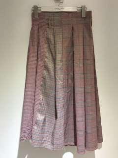 🚚 粉紅格紋裙