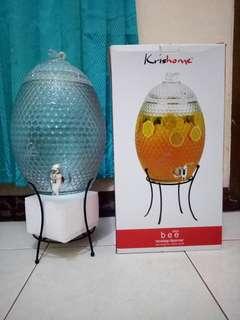 Bee Glass Beverage Dispenser