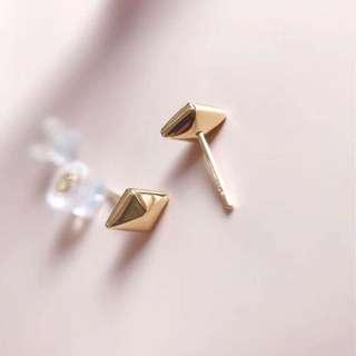 18k 菱形耳環