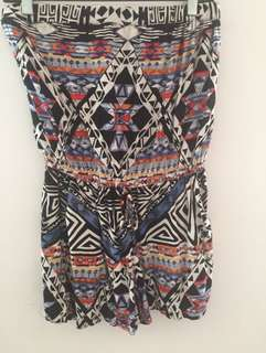 Tribal tube romper