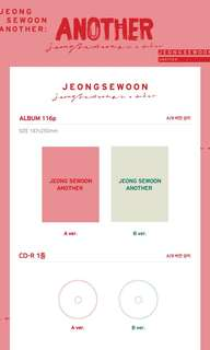 Jeong Sewoon 2nd Mini Album - Another