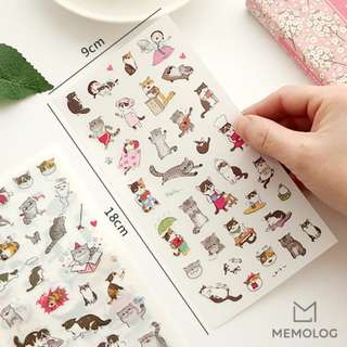 6pcs Cute Cat Stickers for Planner, Scrapbooking, Journal or Diary (2)