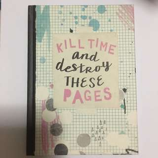 TYPO notebook 'Kill time and Destroy these pages'