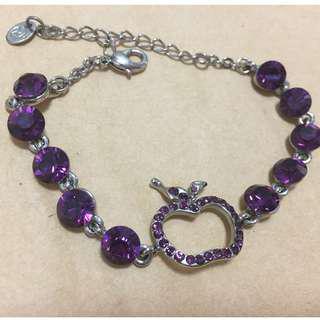 近全新)) 紫色蘋果手環