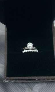 🚚 現貨ESCVD戒圍15.5mm女款仿真一克拉鑽石💎戒指 一組兩個😘 價可議