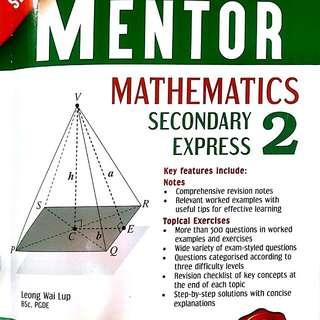 Sec 2 Maths assessments book