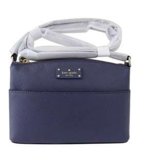 Kate Spade Cross Body Bag Millie WkRU4194 grove street consellblu 寶藍色袋 輕便 出街斯文袋 100% new and real OL 袋 purchase from Us 🇺🇸leather handbag 👜