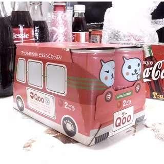 日本可口可樂QOO巴士包裝造型迷你果汁罐一Pack
