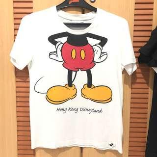 ** disneyland hongkong mickey t shirt