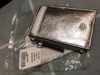Tory Burch wallet silver