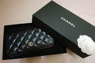 Chanel Classic Wallet (lambskin & gold-tone metal)