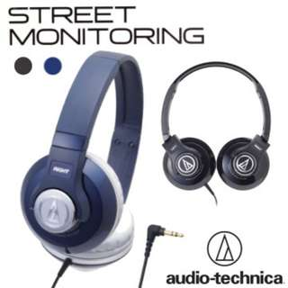NEW Audio-Technica ATH-S500 on-ear Monitoring Headphones