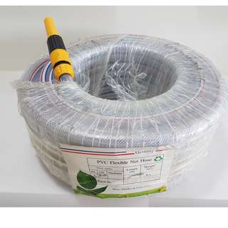 PVC Flexible Net Garden Hose ~ Heavy Duty Type ~ 30m  Outer diameter ~ 20mm  Weight ~ 5.2kg