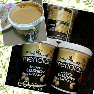 <<MERIDIAN 幼滑100%腰果醬 454克/ LIMITED EDITION! MERIDIAN SMOOTH CASHEW BUTTER 100% 454G>>
