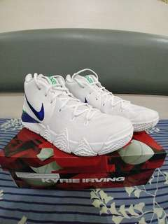 Kyrie 4  White Deep Royal Blue (BARU)