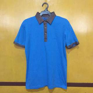 Sahara Blue/Gray Polo Shirt