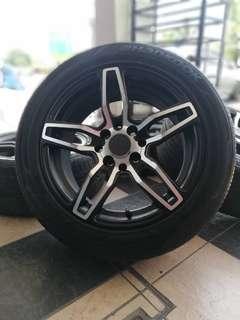 Vossen vip 15 inch sports rim alza tyre 70%.