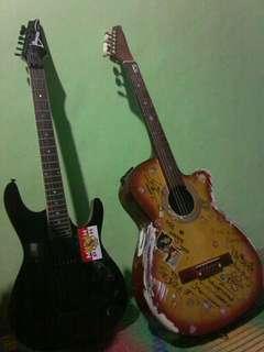 Gitar elektrik full set