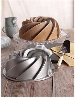 BRAND NEW Nordic Ware Heritage Bundt Pan Heritage One Size Silver