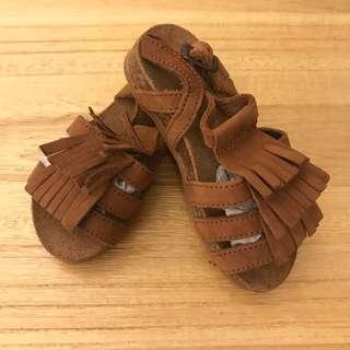 全新zara女童鞋 22/23 15-15.5cm波希米亞