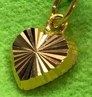 Lovely Heart Locket (916 Gold Series)