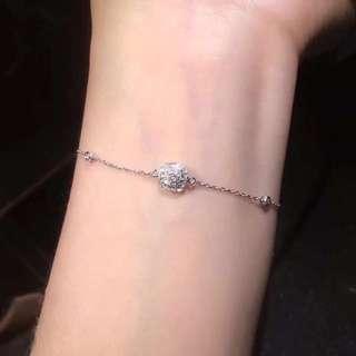 18k 方型鑽石手鏈💎