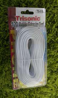 Trisonic telephone extension cord cable line wire